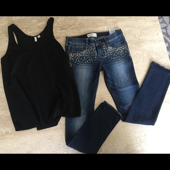 Abercrombie & Fitch Denim - Abercrombie & Fitch & Frenchi Mix & Match Outfit🌸